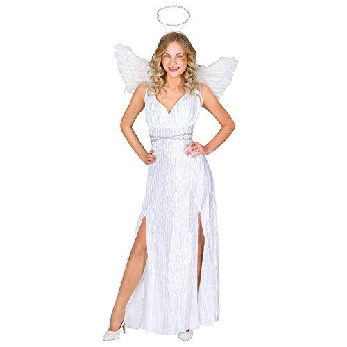 TecTake dressforfun Frauenkostüm Weihnachtsengel | langes Kleid inkl. angenähtem Gürtel | Heiligenschein | Flügel (L | Nr. 300236)