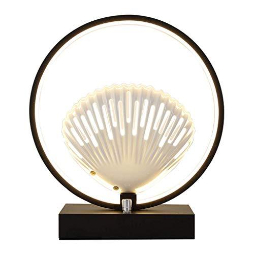 Stilvolle Einfachheit Tischlampen Led Tischlampe Schlafzimmer Kreative Muschellampe Runder Schmiedeeisenrahmen Moderne Nachttischlampe Wohnzimmer Schlafzimmer Arbeitszimmer Tischlampe Schreibtischlam