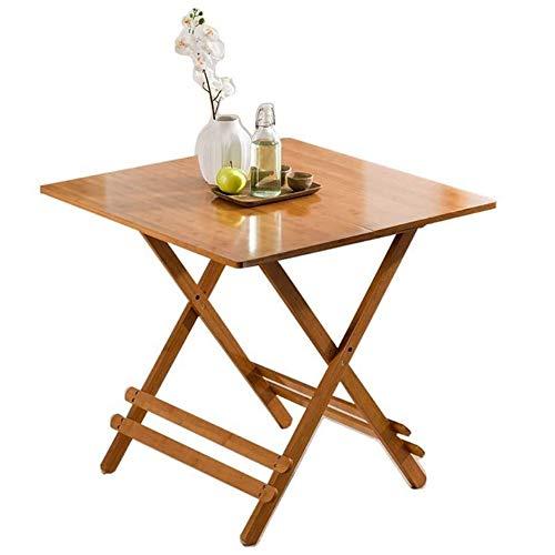 ZROSJDLO Mesa Plegable Mesas de jardín Comedor Mesa de Comedor portátil de bambú de Madera sólida Apartamento pequeño Cuadrado de la Tabla Moderna Minimalista Inicio Ocio (Size : 100 * 100 * 76cm)