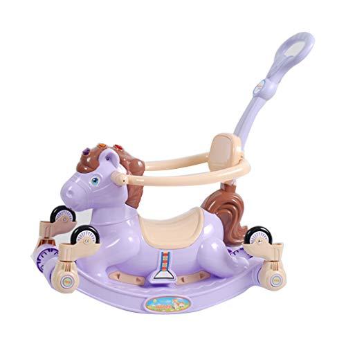 Caballitos de madera Caballo de balancín juguete para niños Trojan home Trojan silla de oscilación de doble uso cuarto de niños caballo de balancín juguete Trojan pesa 60 kg regalo para niños Caballit