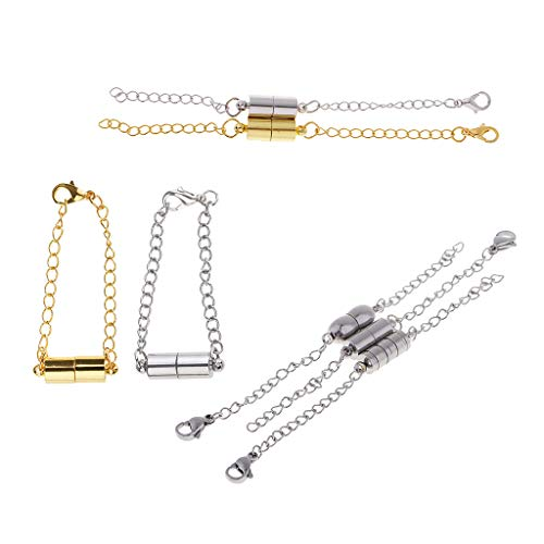 chiwanji 7PC Gold Silver Plated Magnetic Clasps Necklace Chain Extender Lobster Clasp