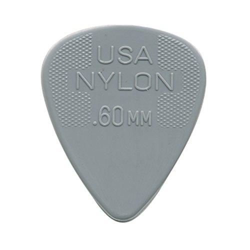 Jim Dunlop - Juego de 6 púas de nailon (0,60 mm)