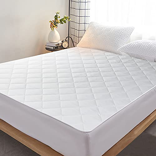 EXTRAA Mattress Protectors Double Size- 40 CM Extra Deep Fitted Mattress Covers Double Bed (137 x 190 CM) - Ultra soft, Breathable and Silent Quilted Mattress Topper