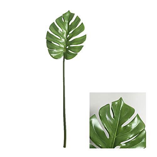 AUTOECHO 2 Unids Aritificial Tropical Hoja de Palma Fake Monstera Árbol Planta Filodendro Falsas hojas de Palma Artificial Planta Artificial Ventana Hoja Para La Decoración Del Hogar