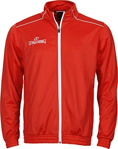 Spalding Kinder Team WARM UP Jacke, rot/Weiß, 140