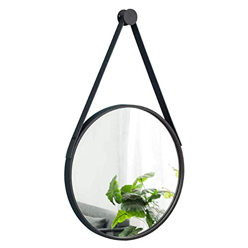 Espejo de Pared Negro Redondo Colgante - Espejo Circular con Marco de Metal montado en la Pared para tocador de Maquillaje (15.7', 19.7', 23.6', 27.6')