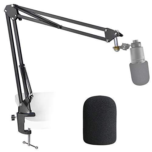 AT2020 Mikrofonständer mit Popschutz - Mikrofonarm mit Pop Filter für Audio Technica AT2020 AT2020USB + AT2035 von YOUSHARES