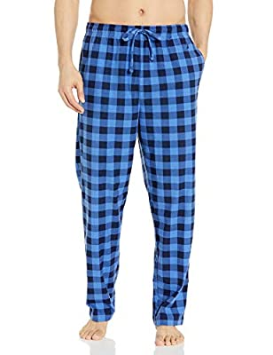 Nautica Men's Cozy Fleece Plaid Pajama Pant, J Navy, Large from Nautica