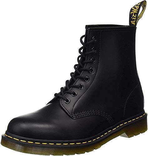 Dr. Martens 1460 - Botas Militares de Mujer, Negro (Black Smooth Leather), 41 EU