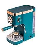 WLL Cafeteras Combinadas Espresso-Goteo Compacto Cafetera con Lavavajillas Seguro Leche Vaporizador...