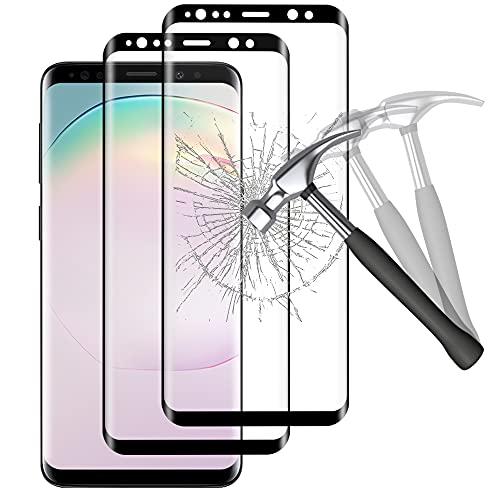 Carantee Panzerglas Schutzfolie für Samsung Galaxy S9 Plus, Frei von Kratzern, 9H Härte, Anti-Öl, Anti-Bläschen, HD Klar Glas Displayschutzfolie für Samsung S9 Plus - 2 Stück