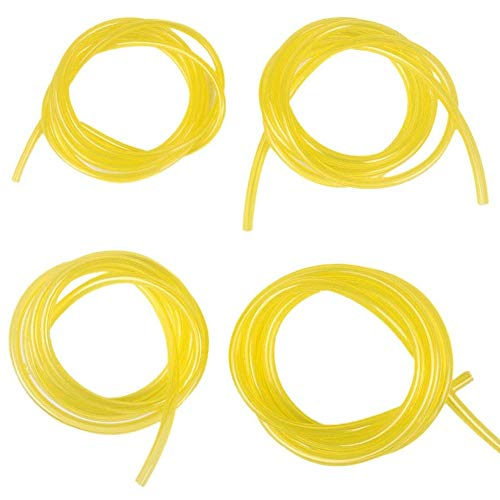 """HIFROM Replace 4-Feet Fuel Line Hose Tube (4 Size) I.D. x O.D. 3/32"""" x 3/16"""" 1/8"""" x 3/16"""" 1/8"""" x 1/4"""" 0.080"""" x 0.140"""" for Poulan Craftman Chainsaw String Trimmer Blower"""