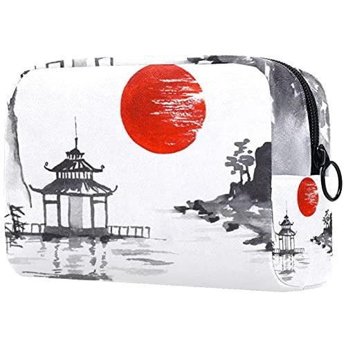 Bolsa Maquillaje Almacenamiento organización Artículos tocador cosméticos Estuche portátil Viento de montaña Nikko para Viajes Aire Libre