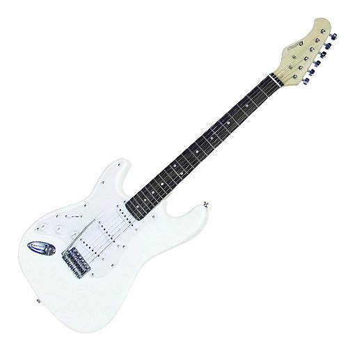 Dimavery 26211125 ST-203 LH E-Gitarre weiß