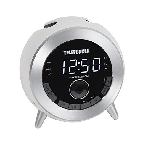 Telefunken R1001B Bluetooth-Radiowecker (UKW-Radio, Dual Alarm, Sleep-Timer, USB-Ladefunktion, dimmbar)