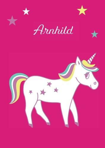 Arnhild: Einhorn Malbuch / Tagebuch / Notizbuch - DIN A4 - blanko