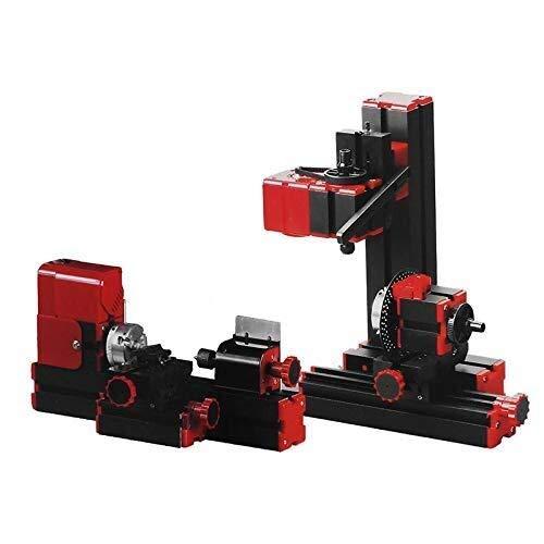 YIONGA CAIJINJIN Accesorios Torno Herramientas eléctricas, 8 en 1 Mini máquina multipropósito de Bricolaje Carpintería Modelo Que Hace la Herramienta de fresado Torno MachineKit Herramienta