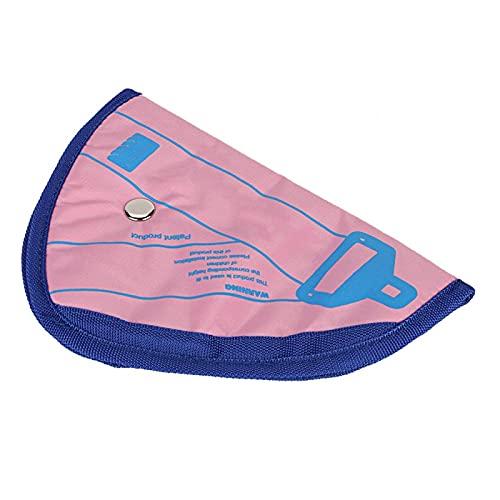 Shipenophy Protector de Ajuste del cinturón de Seguridad Exquisito Profesional del posicionador del Asiento para Mejorar la Seguridad(Pink)