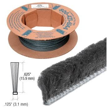 100 Roll .450 Pile Height CRL Z78418C Zipper Pile Weatherstrip .360 Backing