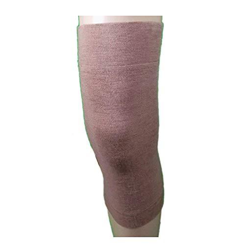 2Knieschoner, Wolle, elastische Band Wärme für die Knie Schmerzlinderung, Traumata, etc 5° extralarge cm 46-50