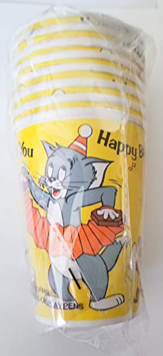 TOM AND JERRY Party Cups Vintage Birthday Favors Decoration Pack of 8 pieces