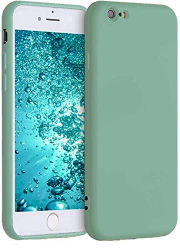 Captor Cover Colorata per iPhone 6 / 6S, Custodia TPU in Silicone Flessibile Morbida con Microfibra, Protezione di Alta qualità con Bordo Rialzato per Schermo e Fotocamera (Verde Menta)