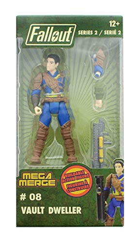 Just Toys Fallout 4-Inch Mega Merge Action Figure Series 2 - Vault Dweller