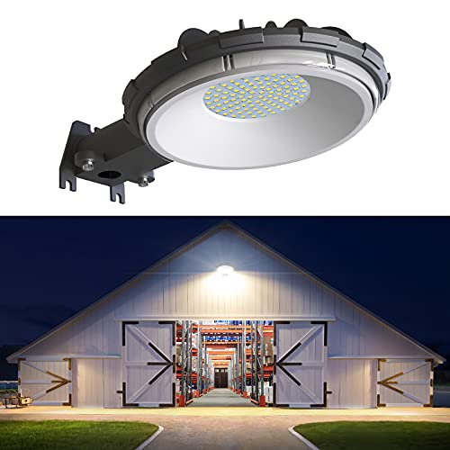LED Barn Light, deerdance Dusk to Dawn Outdoor Lighting with 80W 10000LM 5000K Daylight, IP65 Waterproof Area Street Light for Farmhouse Barns Garage Yard Warehouse Outdoor Security Lighting