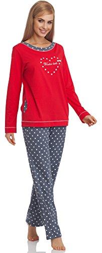 Cornette Pijama para Mujer 679 2016 (Rojo, S)