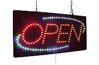 """オープンサインBGY 24""""、スーパーブライト高品質LEDオープンサイン、ストアサイン、ビジネスサイン、ウィンドウサイン"""