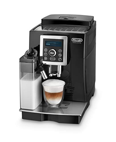 De'Longhi ECAM 23.466.B Kaffeevollautomat mit Milchsystem, Cappuccino und Espresso auf Knopfdruck, Digitaldisplay mit Klartext, 2-Tassen-Funktion, Großer 1,8 Liter Wassertank, schwarz