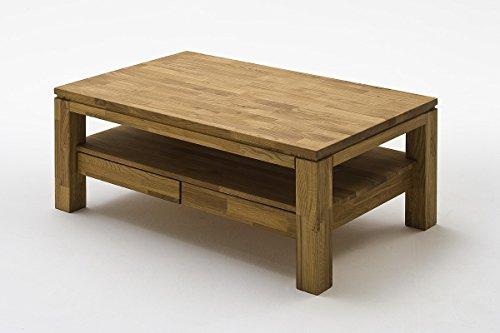Robas Lund Couchtisch Massivholz Wohnzimmertisch Asteiche, Gordon, BxHxT 115 x 70 x 45 cm