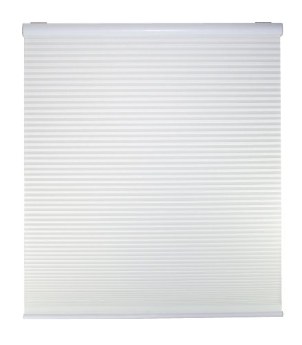 DEZ Furnishings QCWT214480 Cordless Light Filtering Cellular Shade, 21.5W x 48H Inches, White
