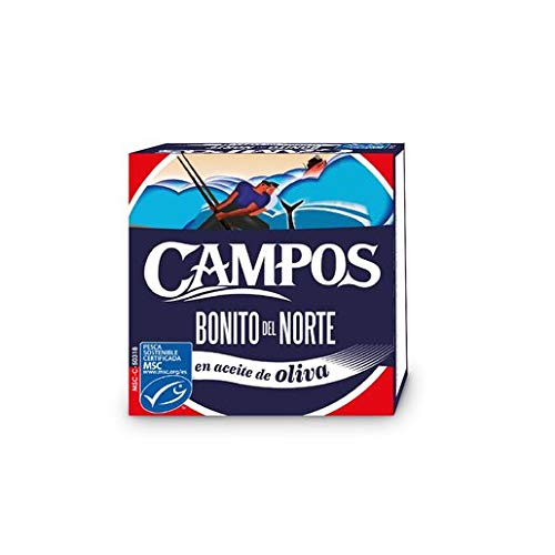 Campos, Conserva de Bonito del Norte de pesca certificada MSC en aceite de oliva, lata de 80 gr