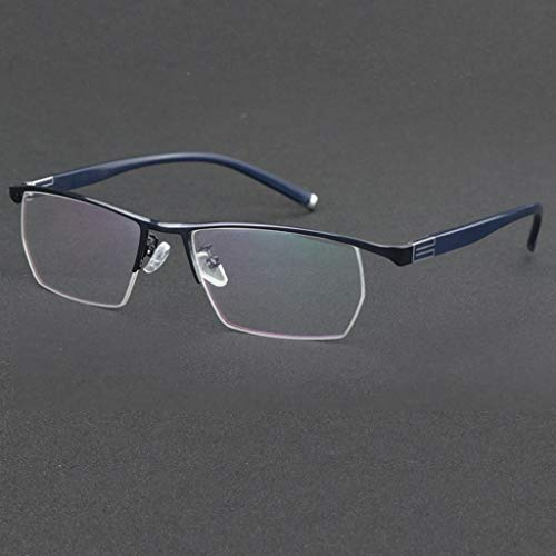 QAQA Gleitsicht Lesebrille, Brillen - Männer for Frauen, Frühlings-Scharnier-Readers for Männer Anti Filter Leichte Brille (Color : Blue, Size : +2.0)