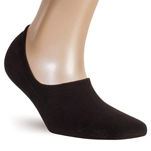 ALL ABOUT SOCKS Unsichtbare Sneaker Socken Herren schwarz 43-46 - RUTSCHFEST - PREMIUM Sneakersocken - Ohne drückende Zehennaht (5er Pack)