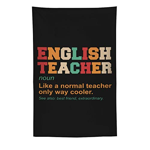 NiYoung Tapestry English Teacher Definition Cooler Best Friend Tapestries Wall Hanging Psychedelic Tapestry Wall Hanging Dorm Decor for Living Room Bedroom Multi-Size
