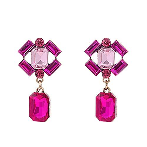 Pendientes colgantes coloridos Pendientes colgantes geométricos para mujer para joyería de fiesta-2