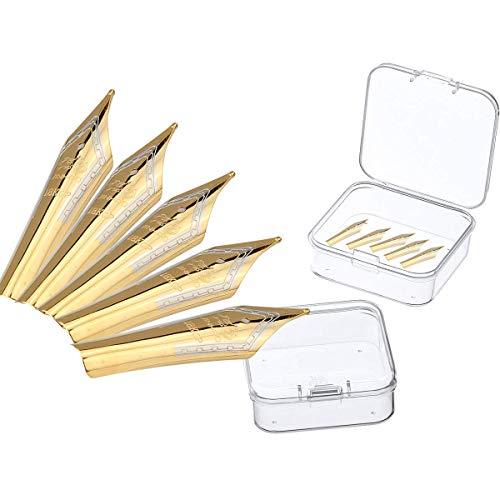 5PCS Füllfederhalter Nibs passen Jinhao 159/750/450/650, Gold, breite Mittlere Spitze