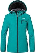 Wantdo Women's Waterproof Ski Fleece Jacket Winter Warm Coat for Snow Sports Outdoors Moonblue L