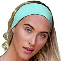 E Tronic Edge Headbands for Men & Women - Headband for Sports, Workout, Running - Comfortable, Quick Drying Head Bands for Long Hair, Mens & Womens, Turquoise