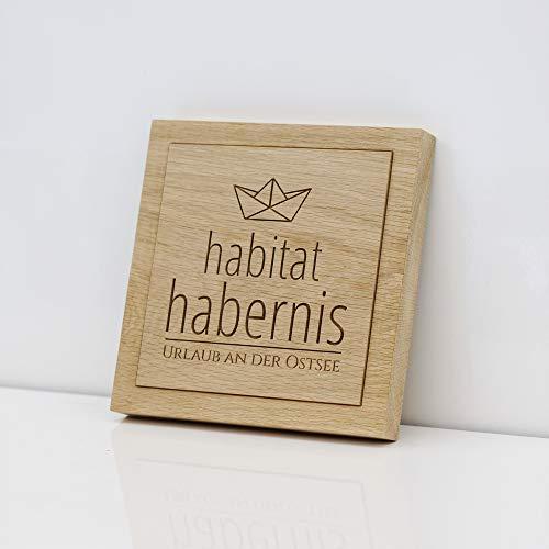 Holzschild mit Deinem Logo - Wir fräsen Dein Firmenlogo (Emblem,Wappen) gemäß Deines Corporate Designs in hochwertiges, massives Eichenholz