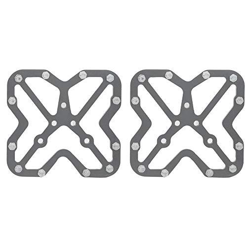 1 Paio di Adattatori per Pedali Senza Clip in Lega di Alluminio per Bici Bicyle per SPD - Colore Titanio