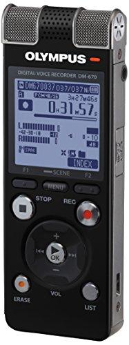Olympus DM-670 Diktiergerät (8GB, Micro SD-Kartenslot, USB, Podcast, 3.0 Mikrosystem, Metallgehäuse, inkl. Akku, Software & Ohrhörer)