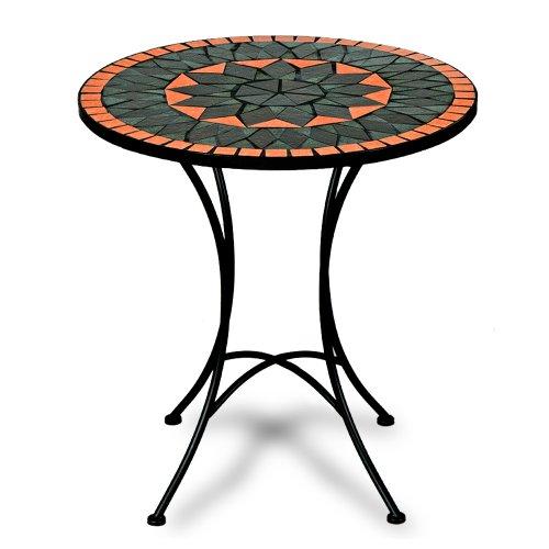 Deuba Mosaic and Wrought Iron Table Terracotta