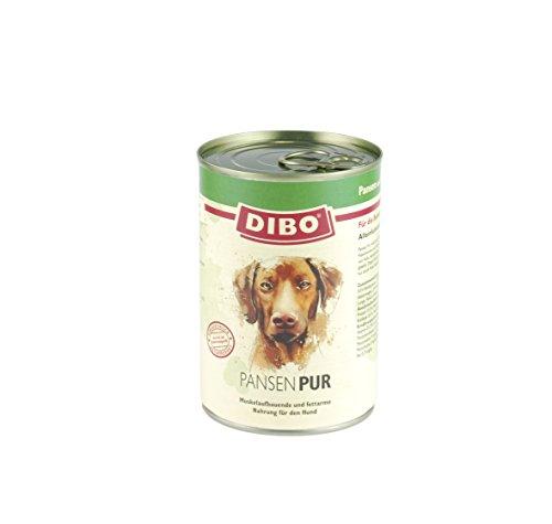 DIBO – PUR PANSEN (Pansen/Blättermagen), 400g-Dose, reine Fleischdosen aus frischem und natürlichem Fleisch! DIBO-Qualität