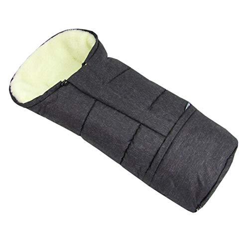 BAMBINIWELT Winterfusssack in Mumienform für Kinderwagen, Jogger, Buggy oder Schlitten, aus Wolle, Größe anpassbar, MUMIE MELIERT (schwarz) XX
