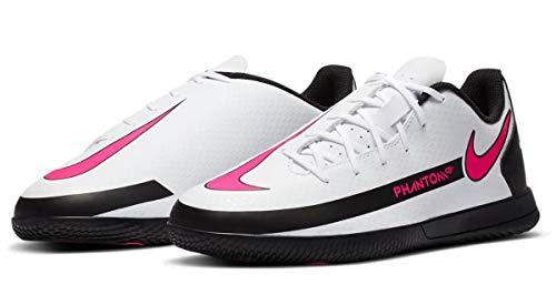 Nike Phantom GT Club IC, Zapatillas de Futsal, Blanco, Rosa y Negro, 27.5 EU