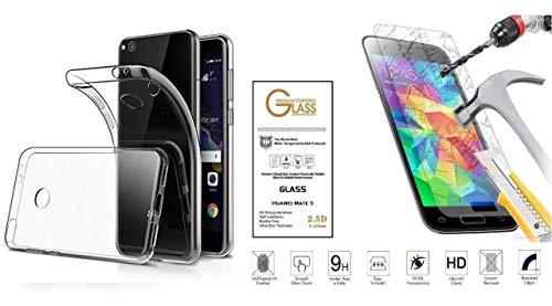 compatible Para Huawei P8 Lite (2017) pra-lx1'/P9 Lite (2017)/Honor 8 Lite Funda Carcasa Carcasa Gel Silicona Soft Slim TPU Suave + película Vidrio Templado Pantalla antiarañazos Transparente