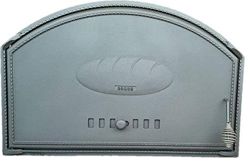 Backofentür Ofentür Pizzaofentür Holzbackofentür Steinbackofentür aus Gusseisen | Außenmaße: 700x460 mm | Öffnungsrichtung: links